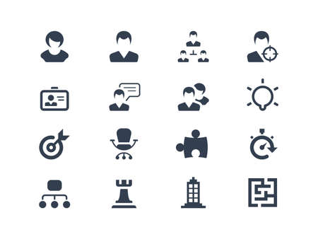 Human resources  and strategy icons