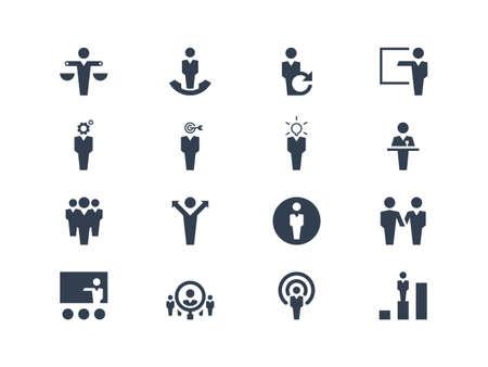 capacitacion: Iconos de los recursos humanos Vectores