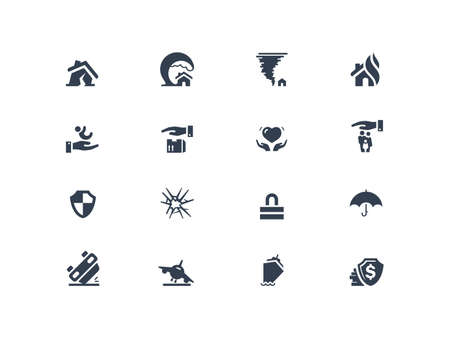 car security: Insurance icons
