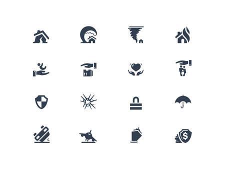 broken house: Insurance icons