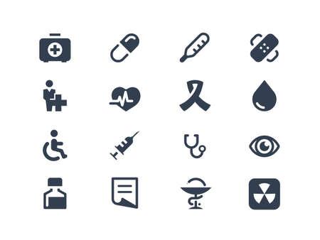 estetoscopio: Los iconos de m?dicos