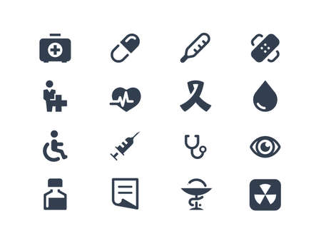 eye exam: Medical icons Illustration