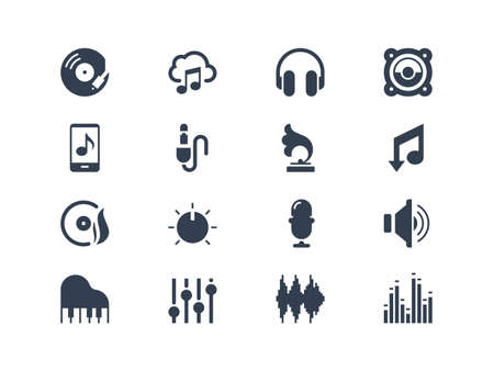 Music icons Stock Vector - 20331106