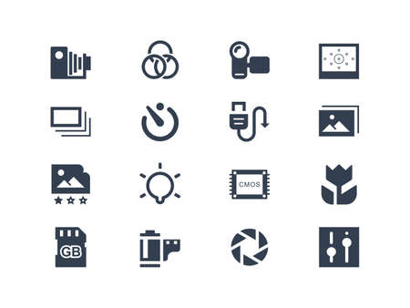 Photography icons Stock Vector - 20323672