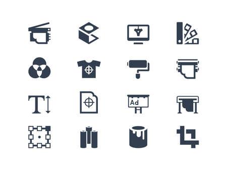 Printing icons Vettoriali