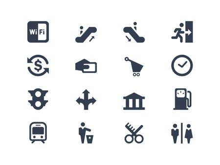 subway: Public icons Illustration