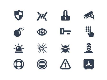 icone: Sicurezza delle icone Vettoriali