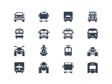 Transport iconen Stock Illustratie
