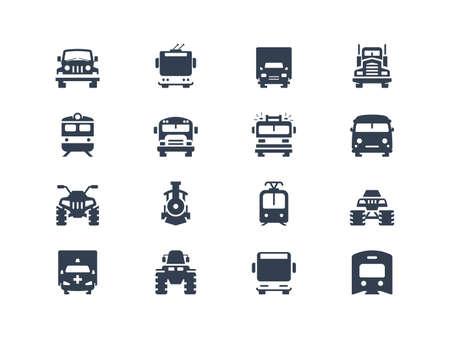 transportation: Trasporti icone Vettoriali