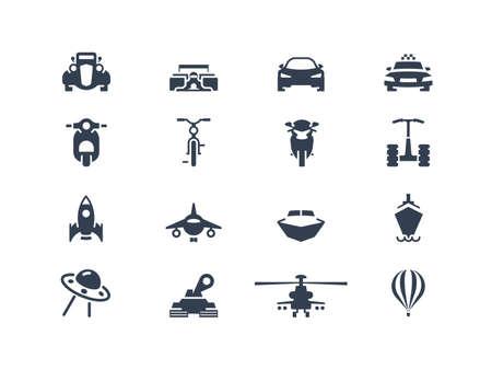 air freight: Icone del trasporto 2 Vettoriali