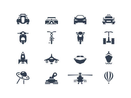 Transportation icons 2 Vector