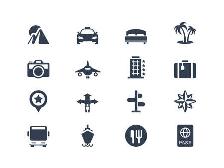 Vacation and travel icons