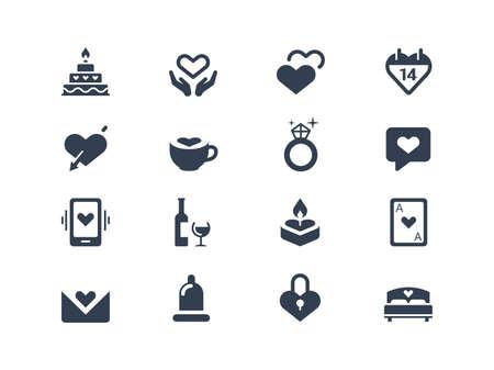 Valentine icons Vettoriali