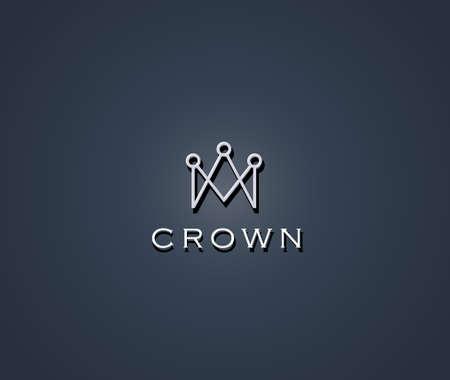 Crown symbol Vettoriali