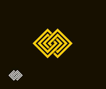 absract: Absract simbolo quadrato Vettoriali