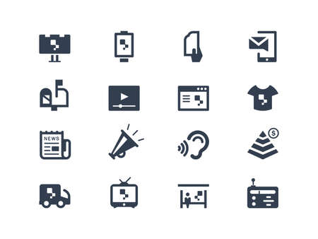 Advertisign icons Vector