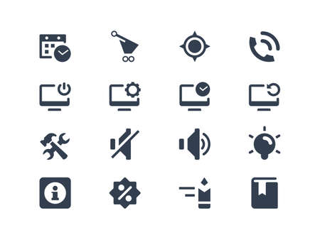 log off: Computer and web icons
