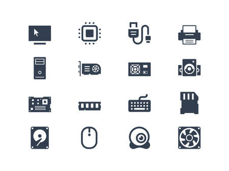 hard component: Computer hardware icons