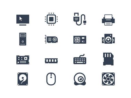 carnero: Los iconos del hardware Vectores