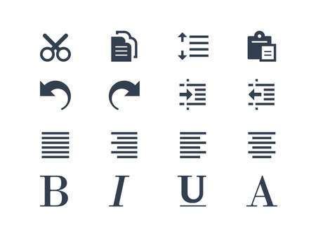 indent: Format and editing icons