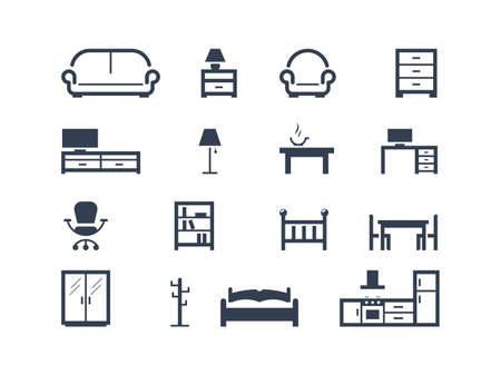 couch: Furniture icons