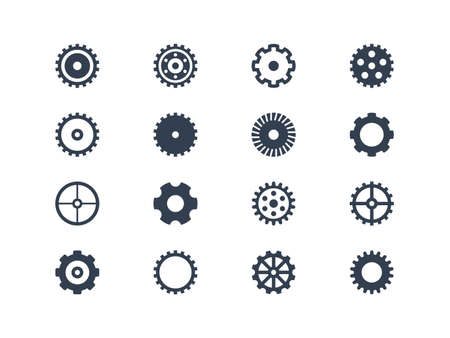 clock gears: Gear icons