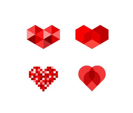 heart diamond: Heart symbols 2 Illustration