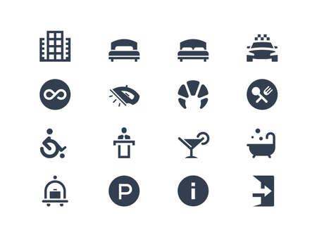 baÑo: Iconos del hotel Vectores