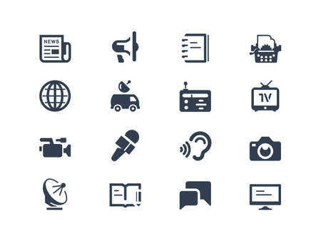 Journalism and press icons Vector