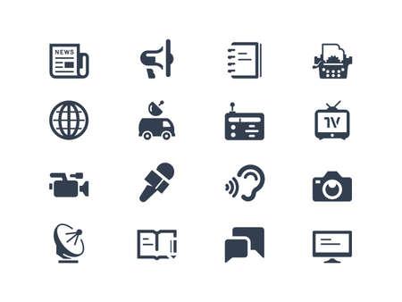 Periodismo y prensa iconos