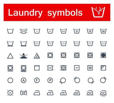 laundry care: Laundry symbols Illustration