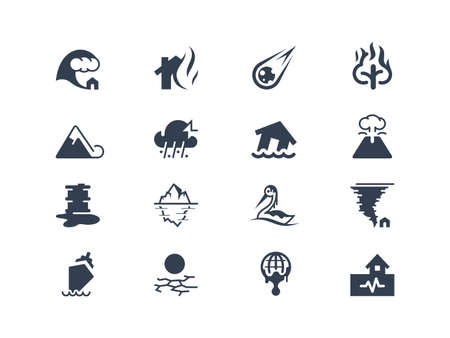 iceberg: Natural disaster icons