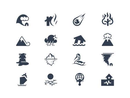katastrophe: Naturkatastrophe Symbolen