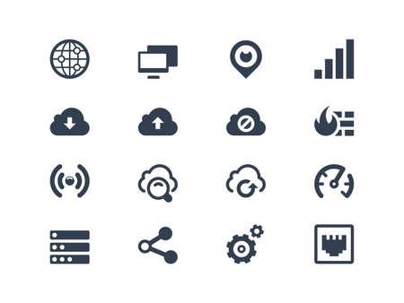 réseautage: Réseau des icônes