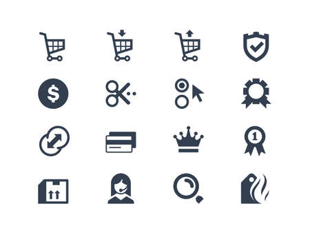 credit cart: Online shopping icons