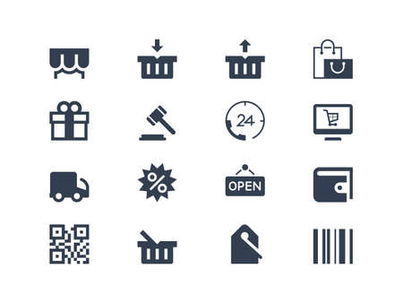 gift bags: Shopping icons Illustration