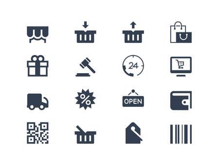 Shopping icons 向量圖像