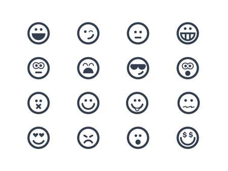lächeln: Lächeln Icons Illustration