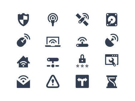Wireless  network  icons Vector