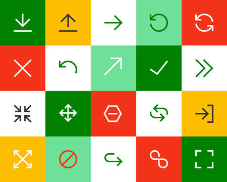 refresh button: Arrows and directional signs. Flat series