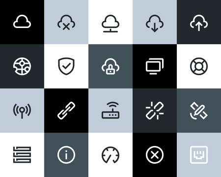 Wireless network icons. Flat series Vector