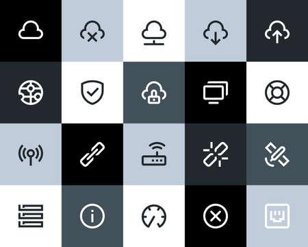 broken link: Wireless network icons. Flat series