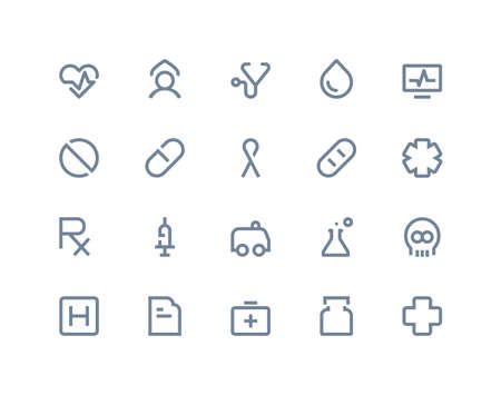 Medical icons set. Line series Vector