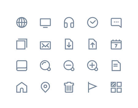 Web and internet icons set. Line series Vector