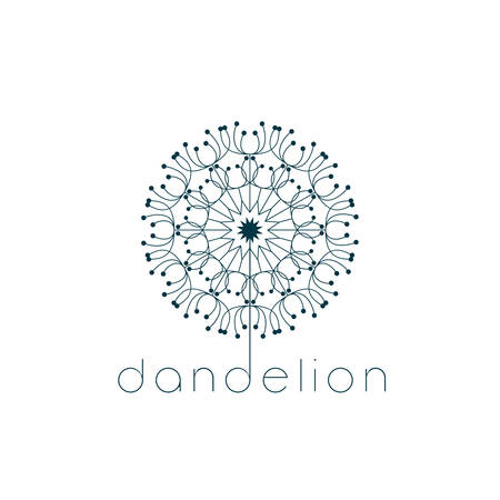 black seeds: Dandelion symbol. Illustration vector design Illustration