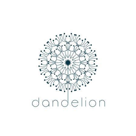 Dandelion symbol. Illustration vector design Vettoriali