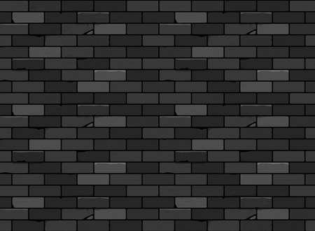 Wall brick seamless pattern Black. Vector design