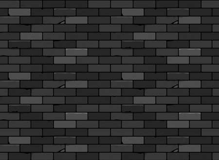 Wall brick seamless pattern Black. Vector design