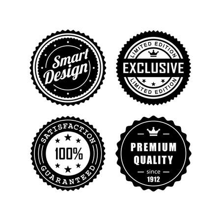 quality seal: Vintage badges vector design 3