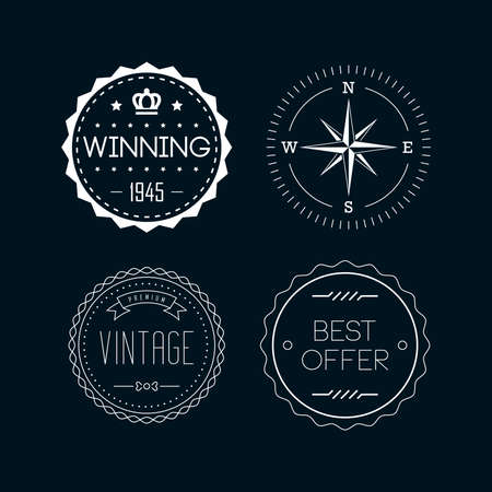 Vintage badges  and labels. Set 4 Vector